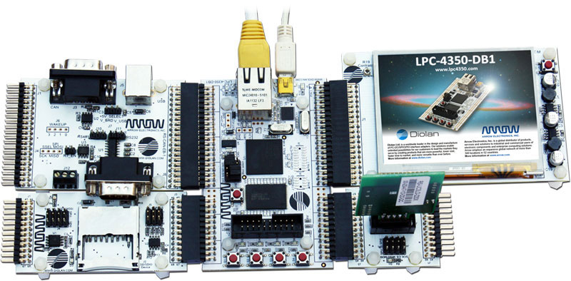 LPC4350-DB1 Development board with extensions