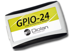 GPIO-24E USB-IO Interface Adapter with Enclosure