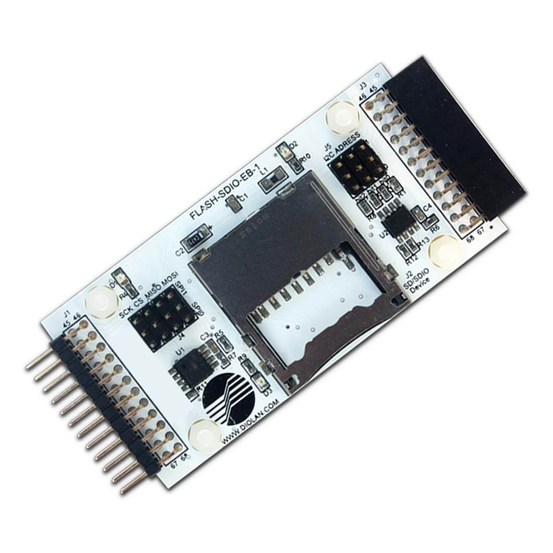 FLASH-SDIO-EB-1 SDIO/SD Card + I2C/SPI Memories Extension Board