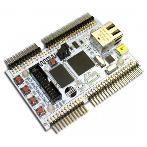 LPC4350-DB1-A Development Board (with assembled connectors and plastic legs)